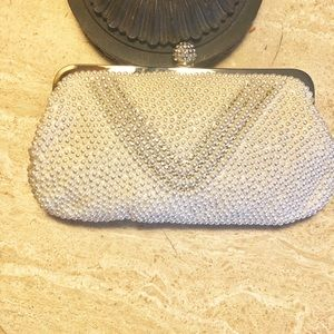 Handbags - Evening bag. Pearl and rhinestone. NWOT